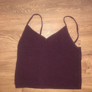 PacSun Cropped Sweater Tank Top